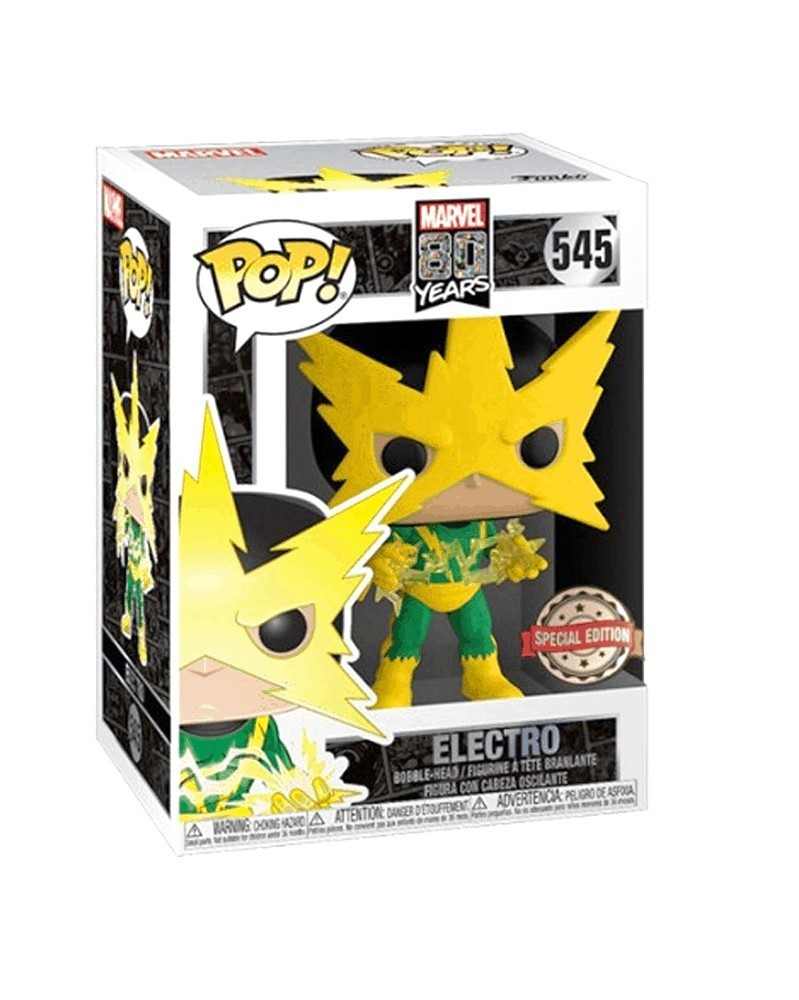 PREORDER! Funko POP Marvel - Electro (First Appearance), caixa
