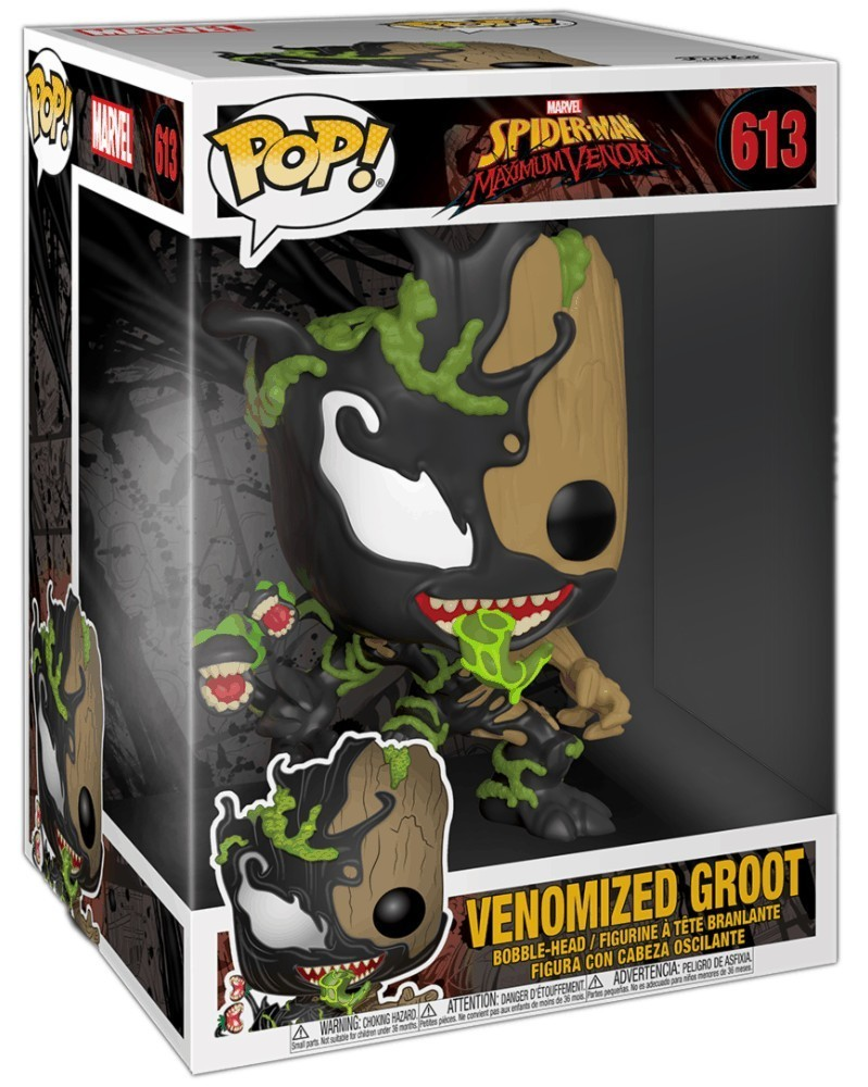 "PREORDER! Funko POP Marvel - Maximum Venom - Venomized Groot 10"", caixa"