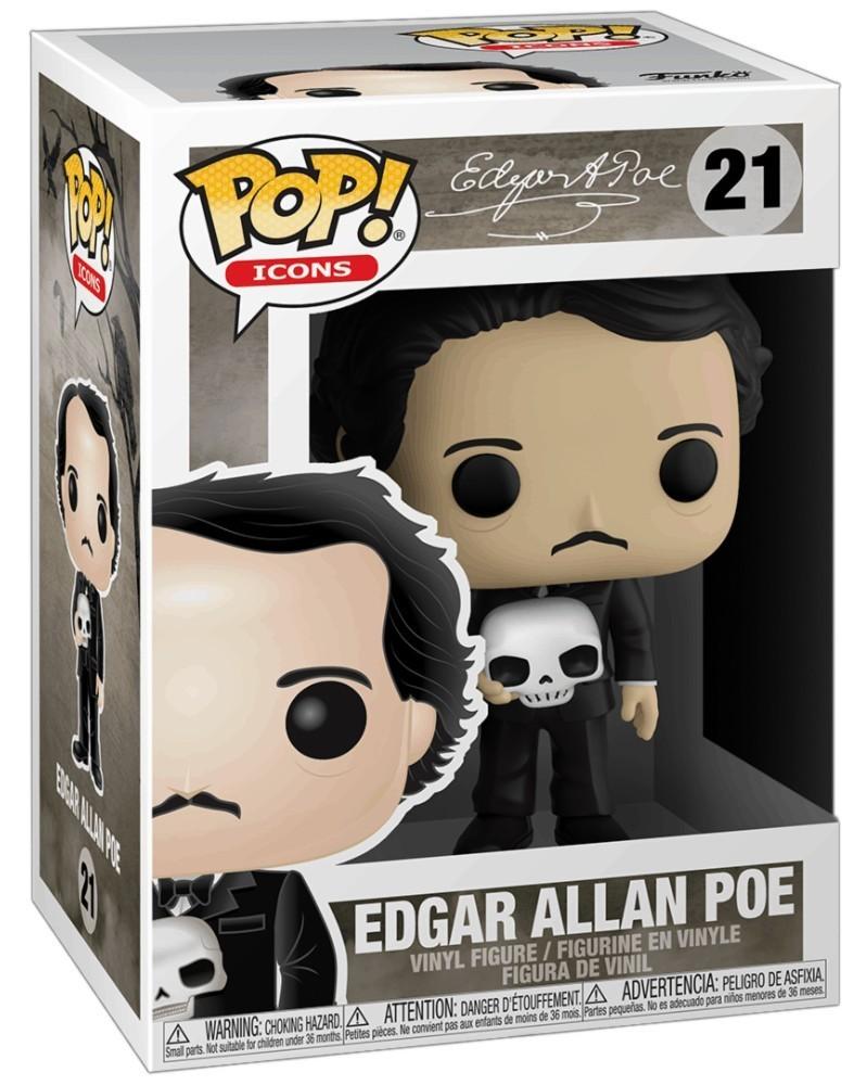 PREORDER! Funko POP Icons - Edgar Allan Poe (with Skull), caixa