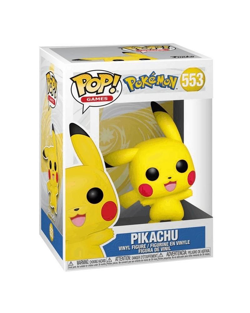 Funko POP Games - Pokémon - Pikachu (Waving), caixa
