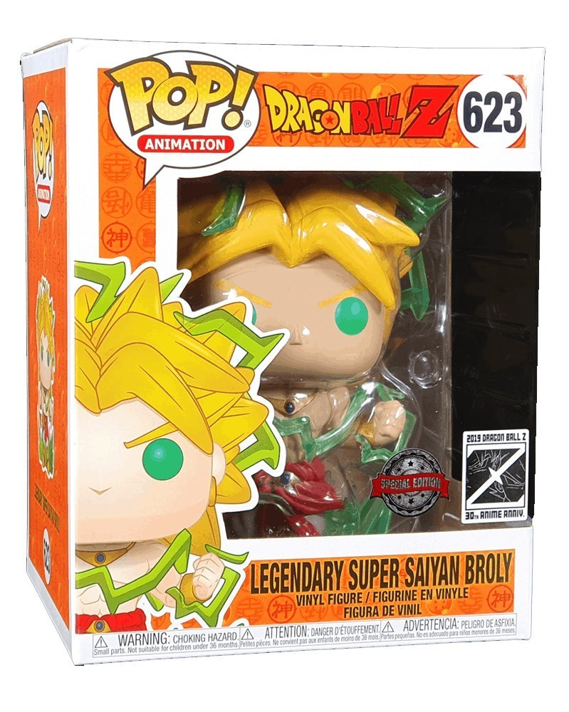 Funko POP Anime - Dragonball Z - Legendary Super Saiyan Broly (15cm), caixa