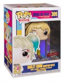 Funko POP Heroes - Birds of Prey - Harley Quinn (Boobytrap Battle), caixa