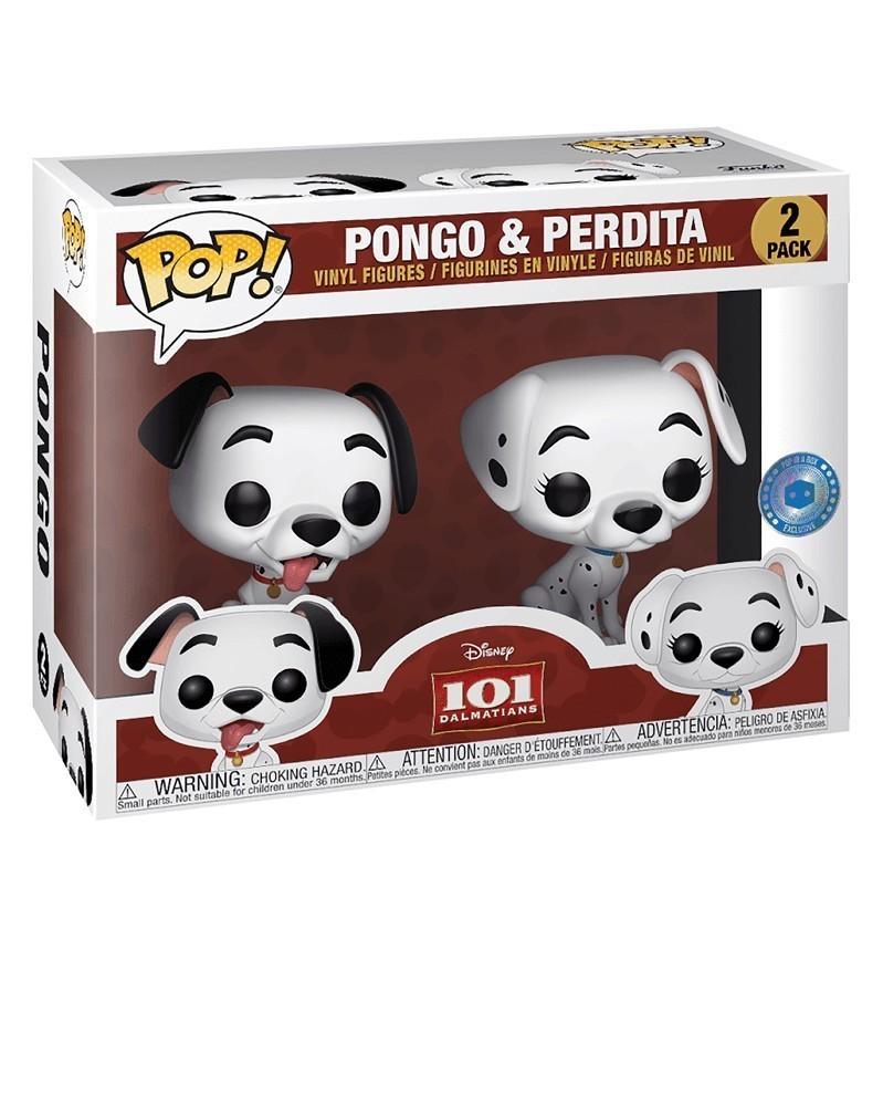 Funko POP Disney - 101 Dalmatians - Pongo & Perdita (2-Pack), caixa
