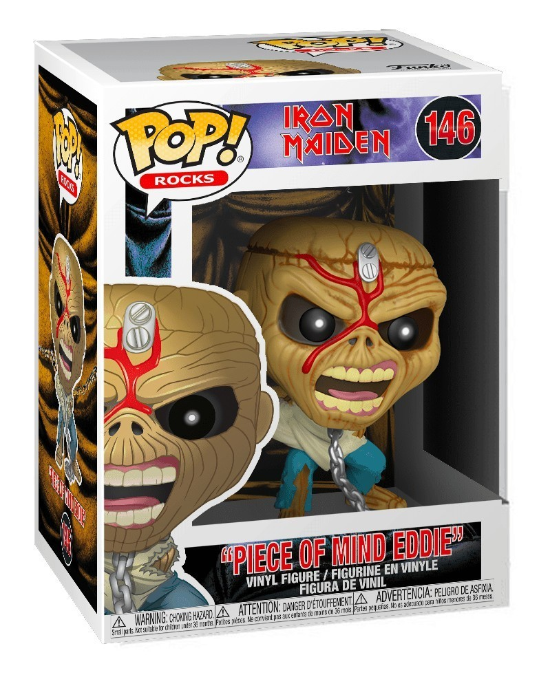Funko POP Rocks - Iron Maiden - Piece of Mind (Eddie), caixa