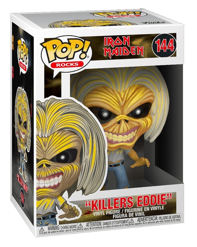 Funko POP Rocks - Iron Maiden - Killers (Skeleton Eddie), caixa