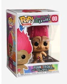 Funko POP Animation - Good Luck Trolls - Pink Troll, caixa