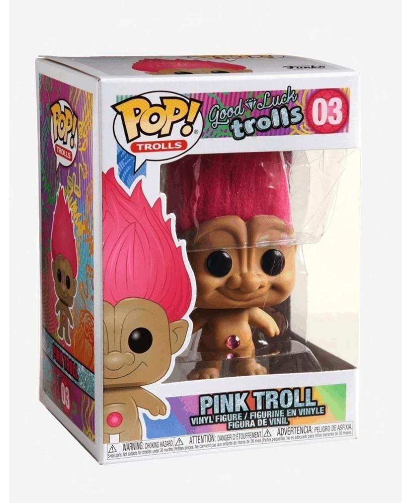 Funko POP Animation - Good Luck Trolls - Pink Troll, caixa