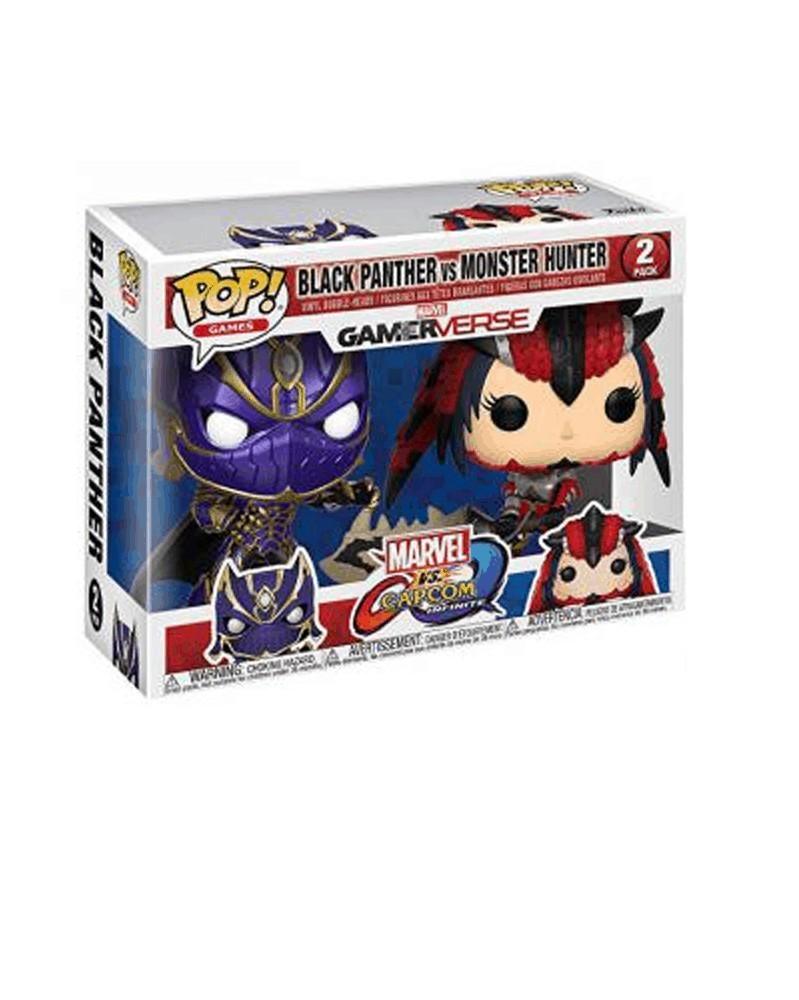 POP Games - Marvel Gamerverse vs Capcom -  Black Panther vs Monster Hunter, caixa