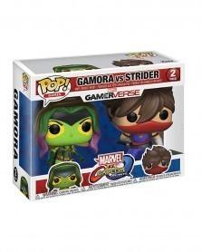 POP Games - Marvel Gamerverse vs Capcom -  Gamora vs Strider, caixa