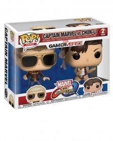 POP Games - Marvel Gamerverse vs Capcom -  Captain Marvel vs Chun-Li, caixa