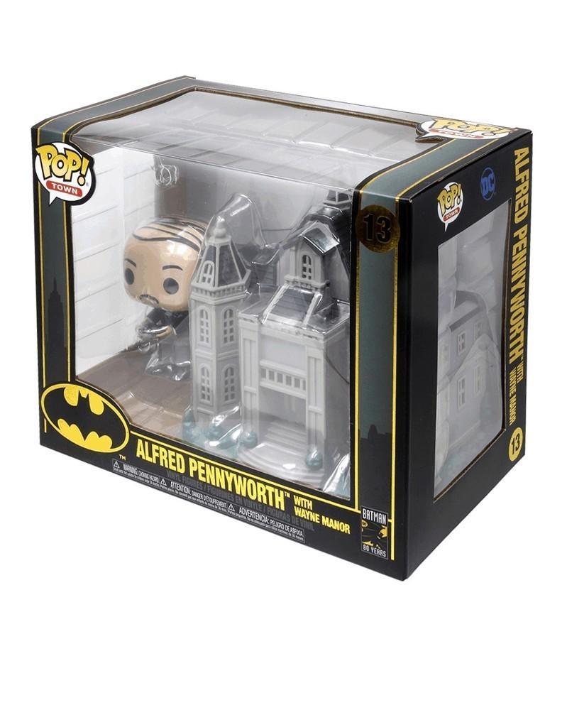 Funko POP Town - Batman - Alfred Pennyworth w/Wayne Manor, caixa