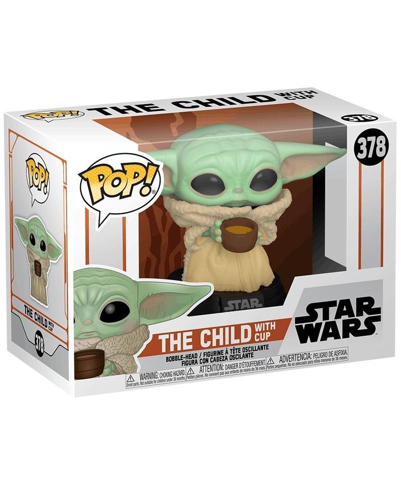 POP Star Wars - The Mandalorian - The Child (Baby Yoda) with Cup, caixa