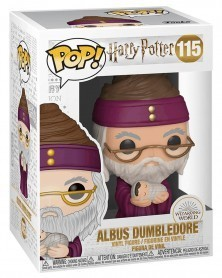 Funko POP Harry Potter - Albus Dumbledore with Baby Harry, caixa