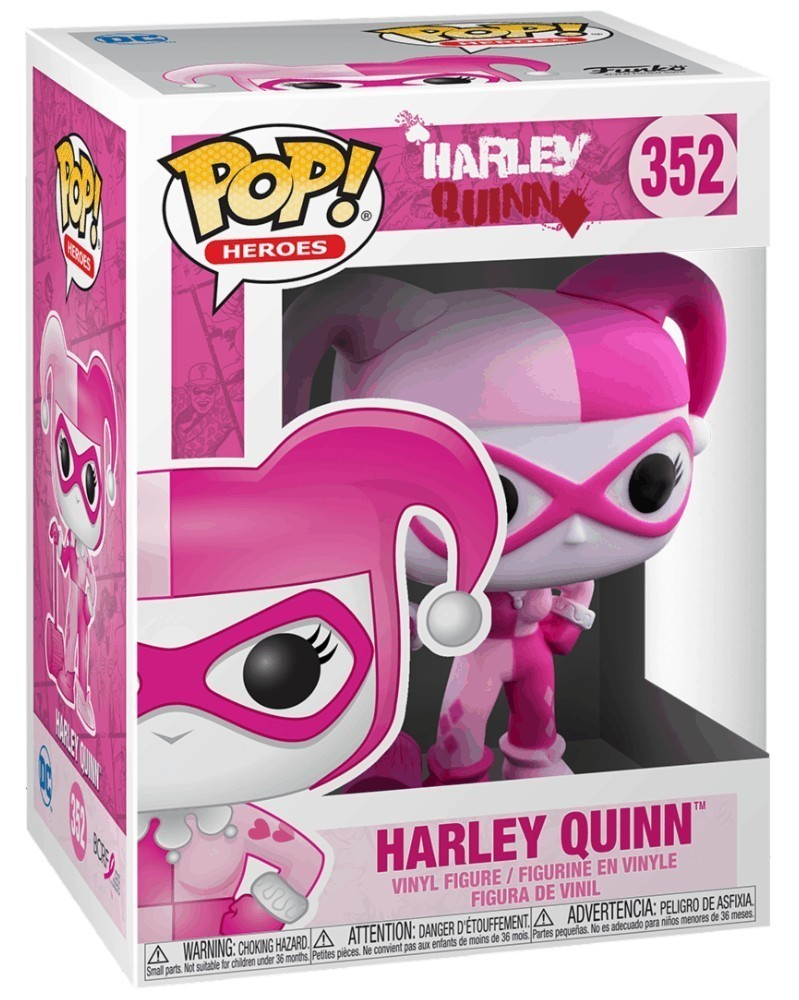 PREORDER! Funko POP Heroes - Breast Cancer Awareness - Harley Quinn, caixa