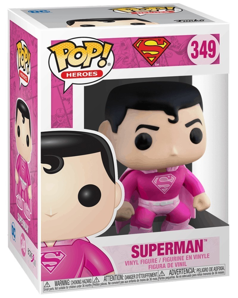 PREORDER! Funko POP Heroes - Breast Cancer Awareness - Superman, caixa