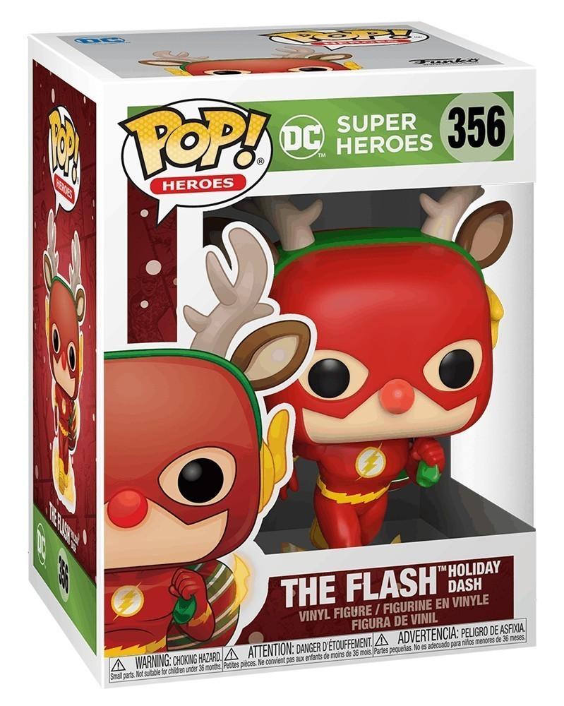 PREORDER! Funko POP DC Super Heroes - The Flash (Holiday Dash), caixa