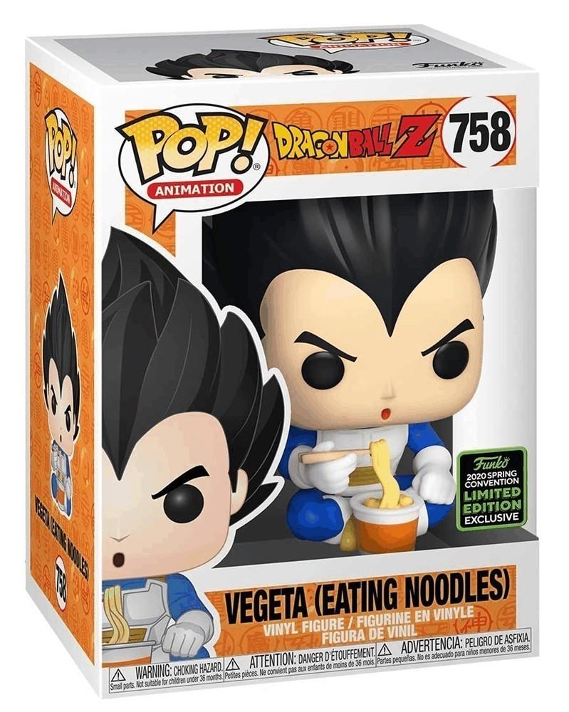 Funko POP Anime - Dragonball Z - Vegeta (Eating Noodles), caixa
