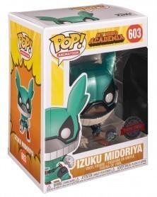 Funko POP Anime - My Hero Academia - Izuku Midoriya (Metallic), caixa
