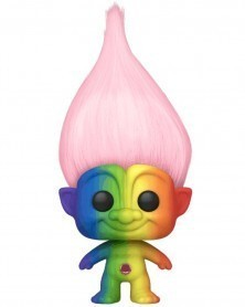 Funko POP Animation - Good Luck Trolls - Pink Troll (Rainbow)