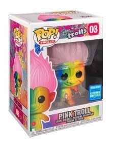 Funko POP Animation - Good Luck Trolls - Pink Troll (Rainbow), caixa