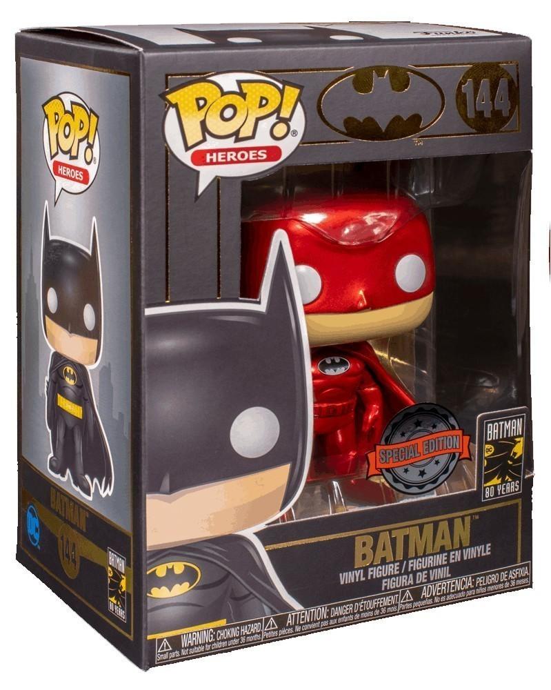 Funko POP Heroes - Batman (Red Metallic), caixa