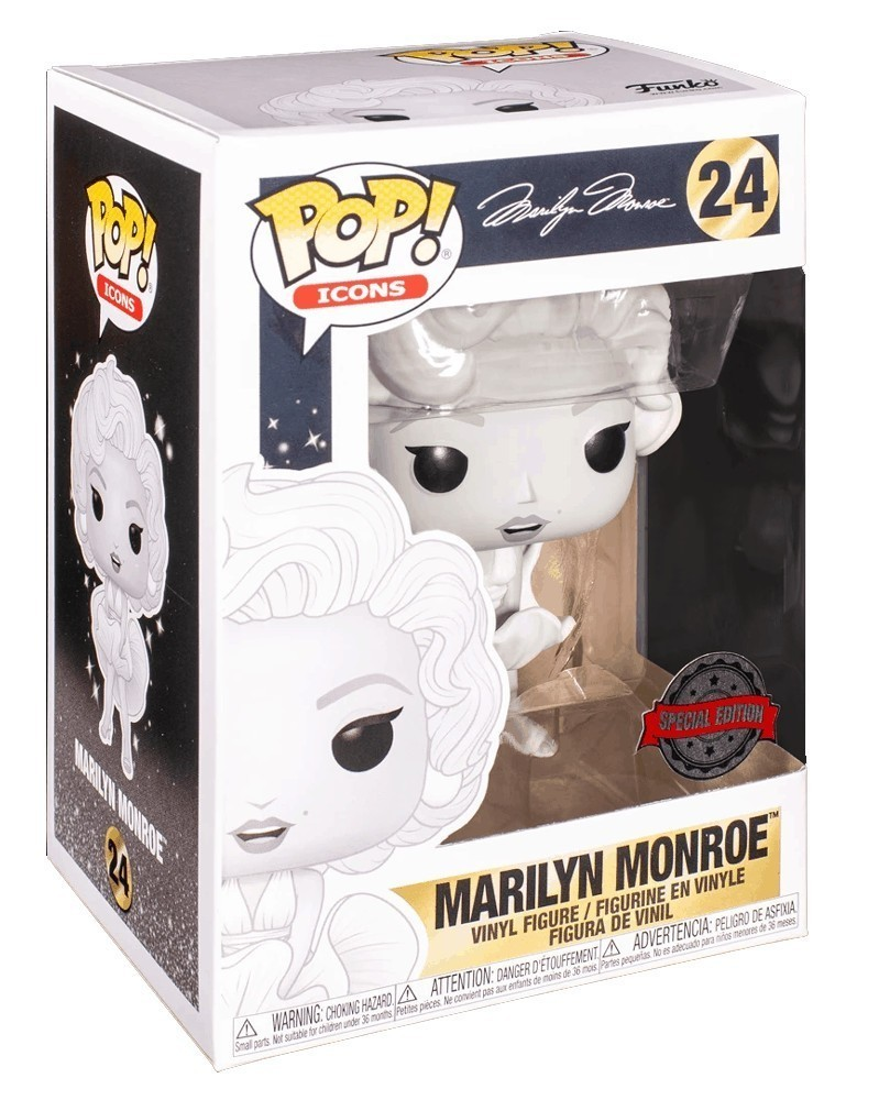 Funko POP Icons - Marilyn Monroe (All White Exclusive), caixa