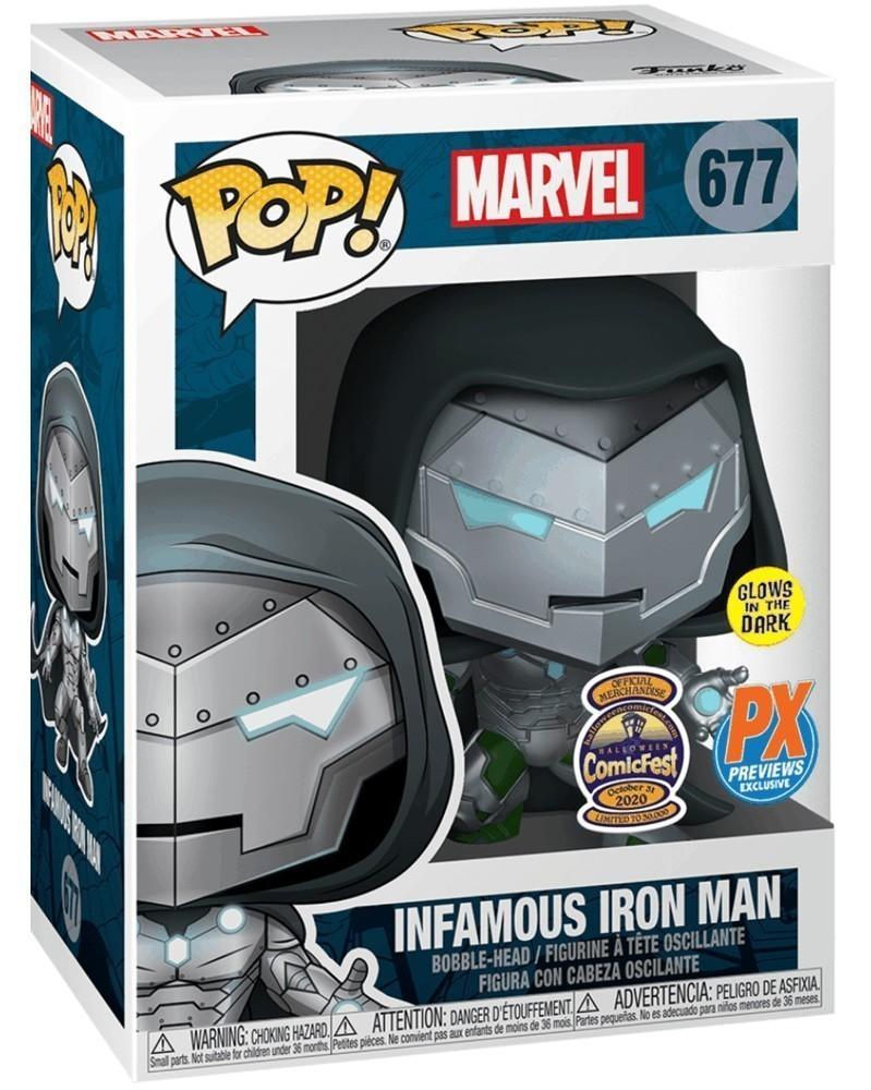 Funko POP Marvel - Infamous Iron Man, caixa