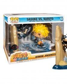 Funko POP Anime Moment - Naruto Shippuden - Naruto vs. Sasuke, caixa