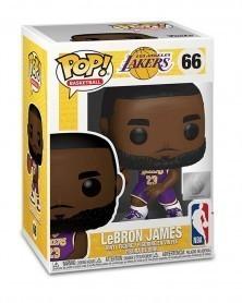 Funko POP Basketball - LA Lakers - LeBron James (Purple 66), caixa