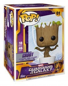 Funko POP Marvel - Guardians of The Galaxy - Groot (45cm), caixa