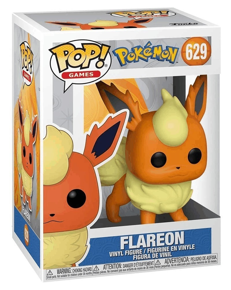 Funko POP Games - Pokémon - Flareon, caixa
