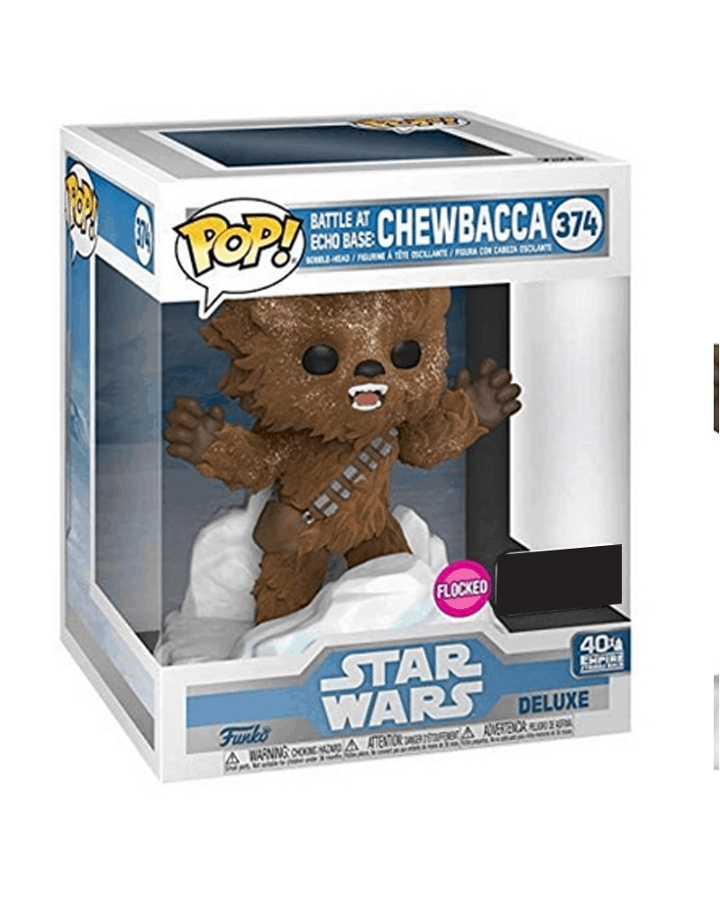 Funko POP Star Wars - Battle at Echo Base: Chewbacca (flocked), caixa