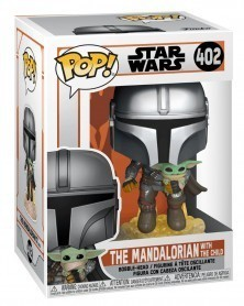 Funko POP Star Wars - The Mandalorian in Jetpack with The Child, caixa