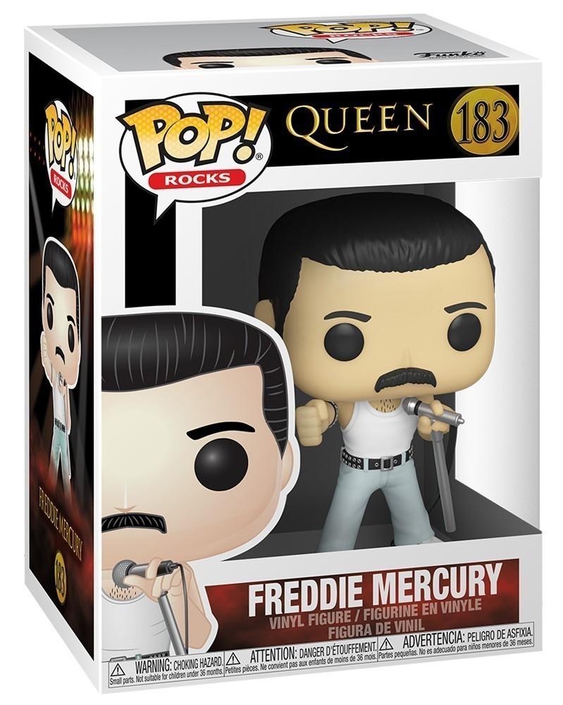 PREORDER! Funko POP Rocks - Queen - Freddie Mercury (Radio Gaga), caixa