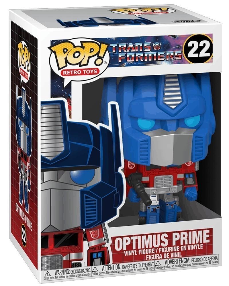 Funko POP Retro Toys - Transformers - Optimus Prime, caixa