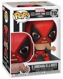 POP Marvel - Lucha Libre - Deadpool El Chimichanga de La Muerte, caixa
