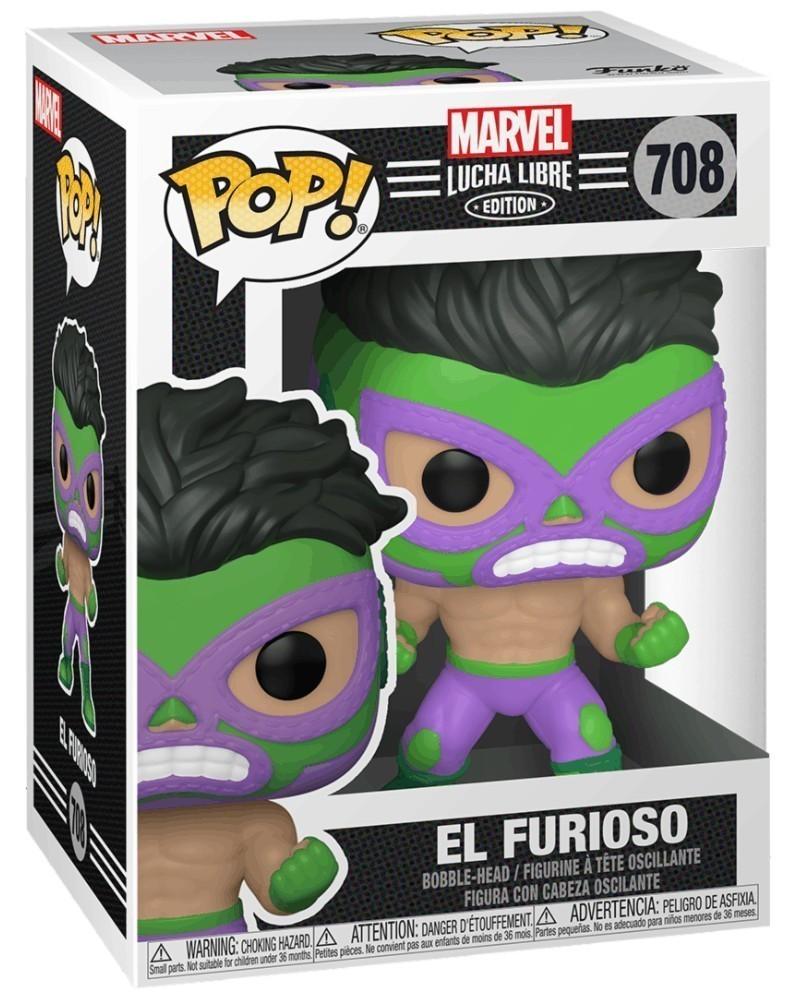 Funko POP Marvel - Lucha Libre - Hulk El Furioso, caixa