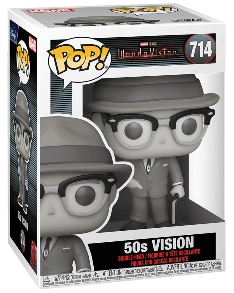 Funko POP Marvel Studios - WandaVision - 50s Vision, caixa