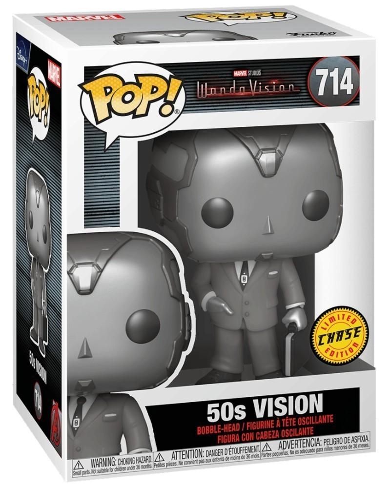 Funko POP Marvel Studios - WandaVision - 50s Vision (CHASE), caixa