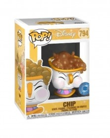 Funko POP Disney - Beauty and The Beast - Chip (with Bubbles), caixa