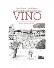 La Incréible Historia del Vino, de Simmat & Casaneve (Ed. em Castelhano) capa
