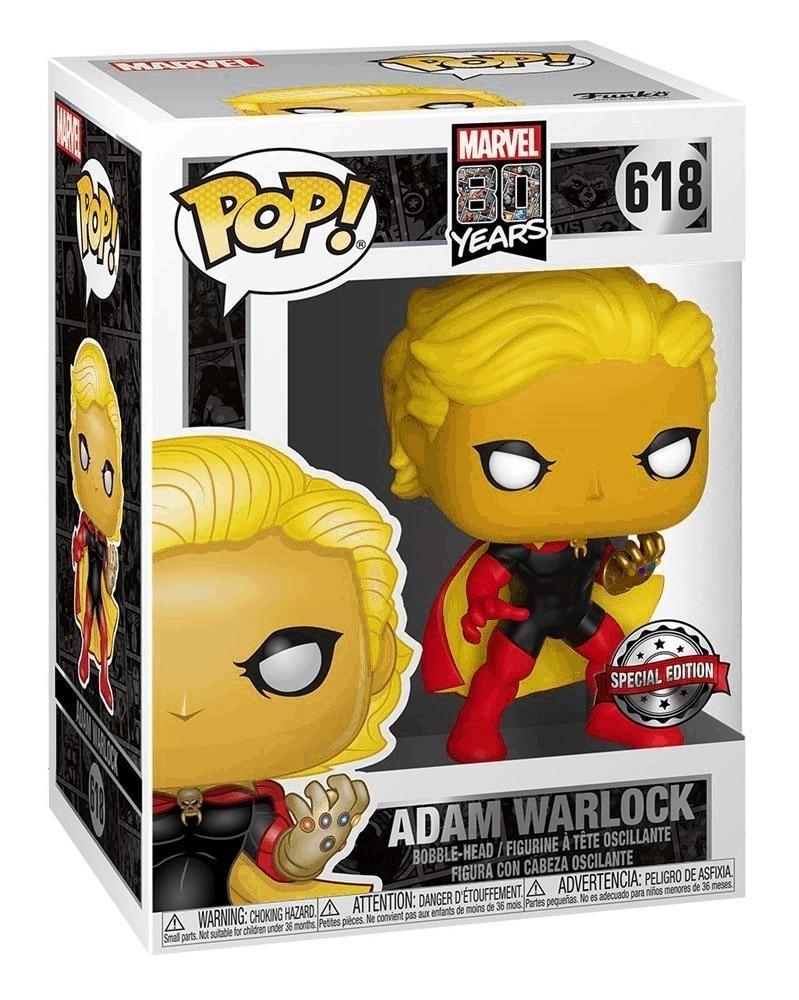 Funko POP Marvel 80th Anniversary - Adam Warlock, caixa