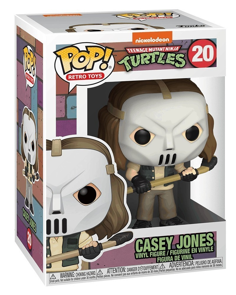 Funko POP Retro Toys - Teenage Mutant Ninja Turtles - Casey Jones, caixa