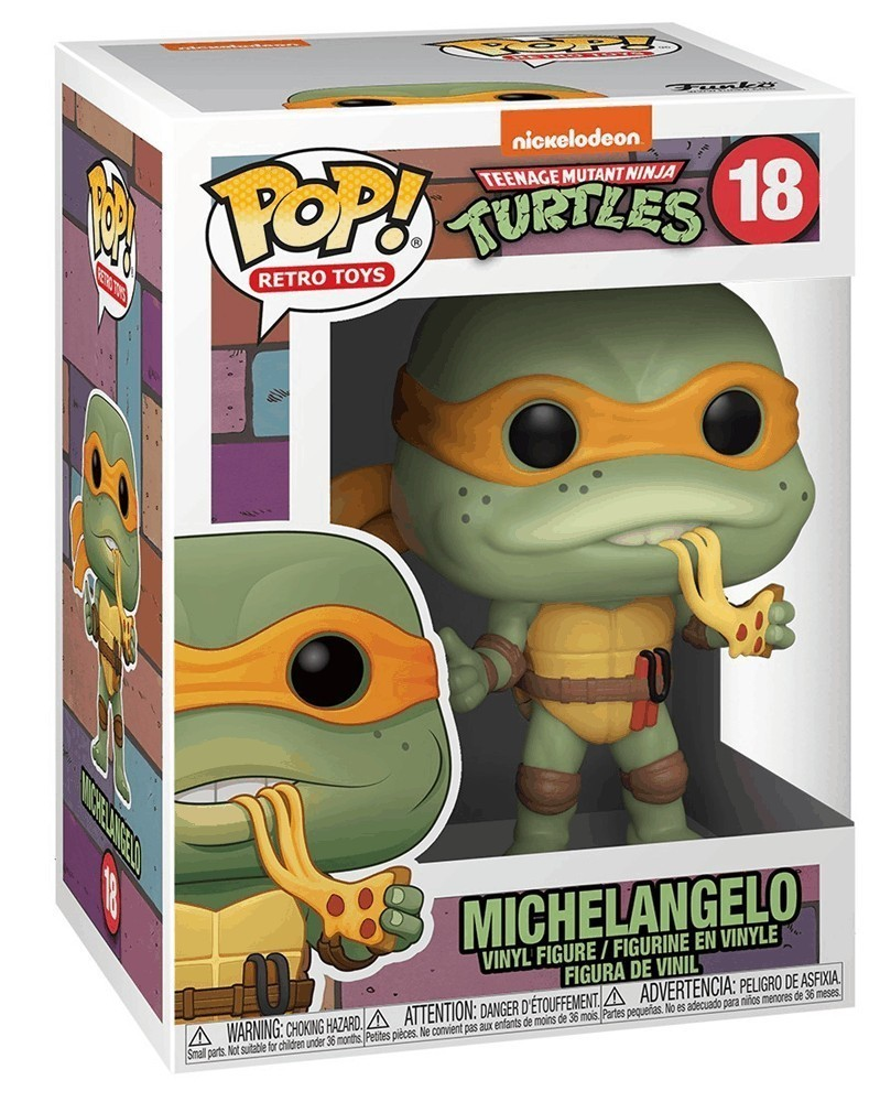 Funko POP Retro Toys - Teenage Mutant Ninja Turtles - Michelangelo, caixa