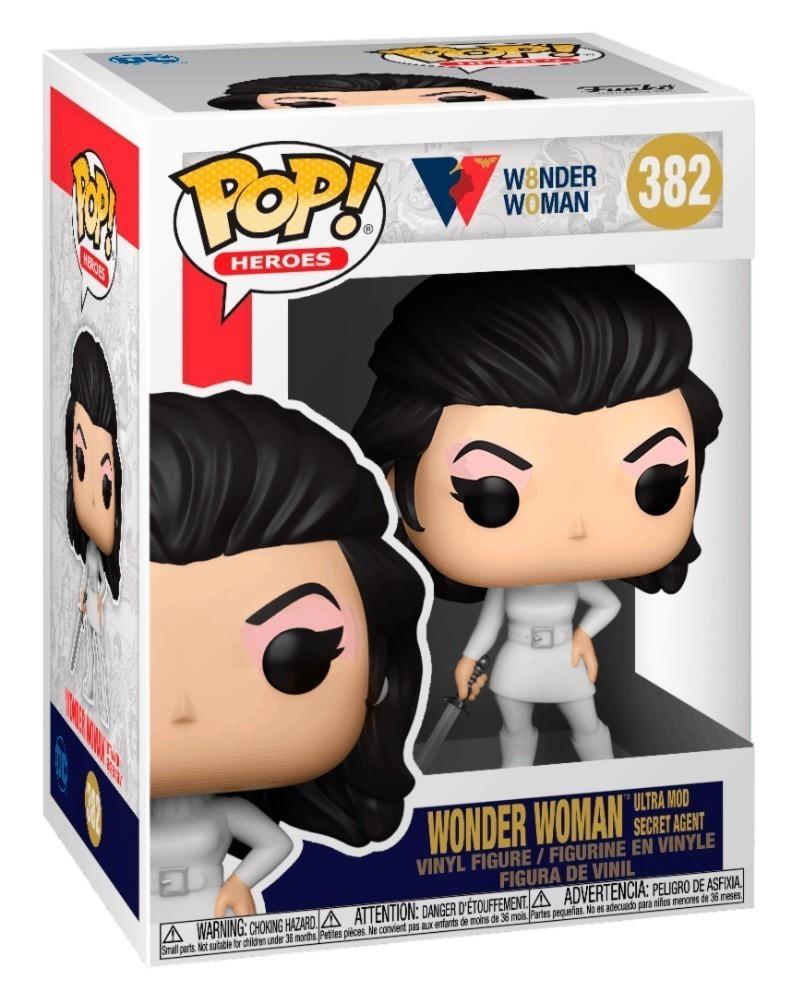 PREORDER! Funko POP WW 80th Anniversary - Wonder Woman (Ultra Mod Secret Agent) caixa