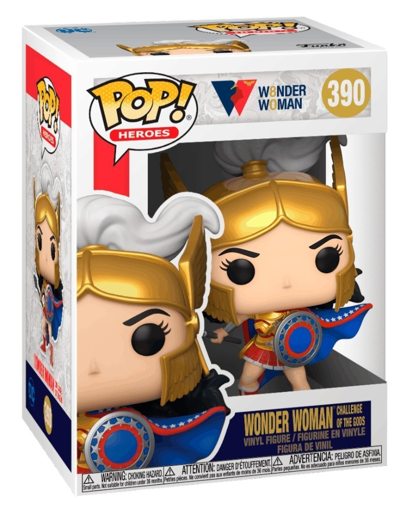 PREORDER! Funko POP WW 80th Anniversary - Wonder Woman (Challenge of The Gods) caixa