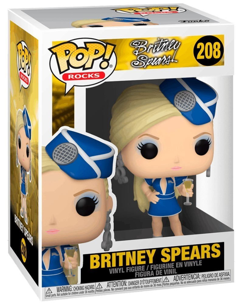 PREORDER! Funko POP Rocks - Britney Spears (Stewardess) caixa