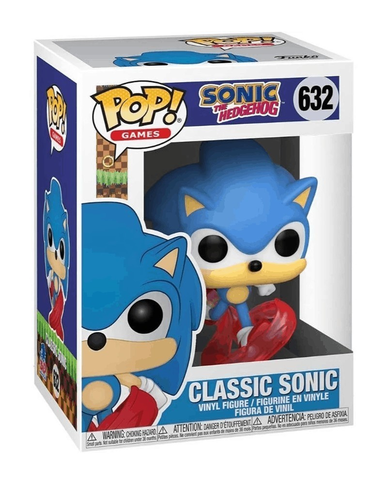 Funko POP Games - Sonic The Hedgehog - Classic Sonic (632) caixa