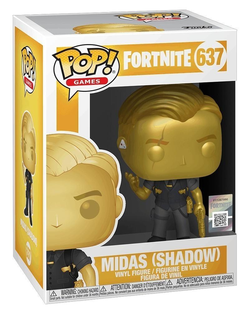 Funko POP Games - Fortnite - Midas (Shadow) caixa