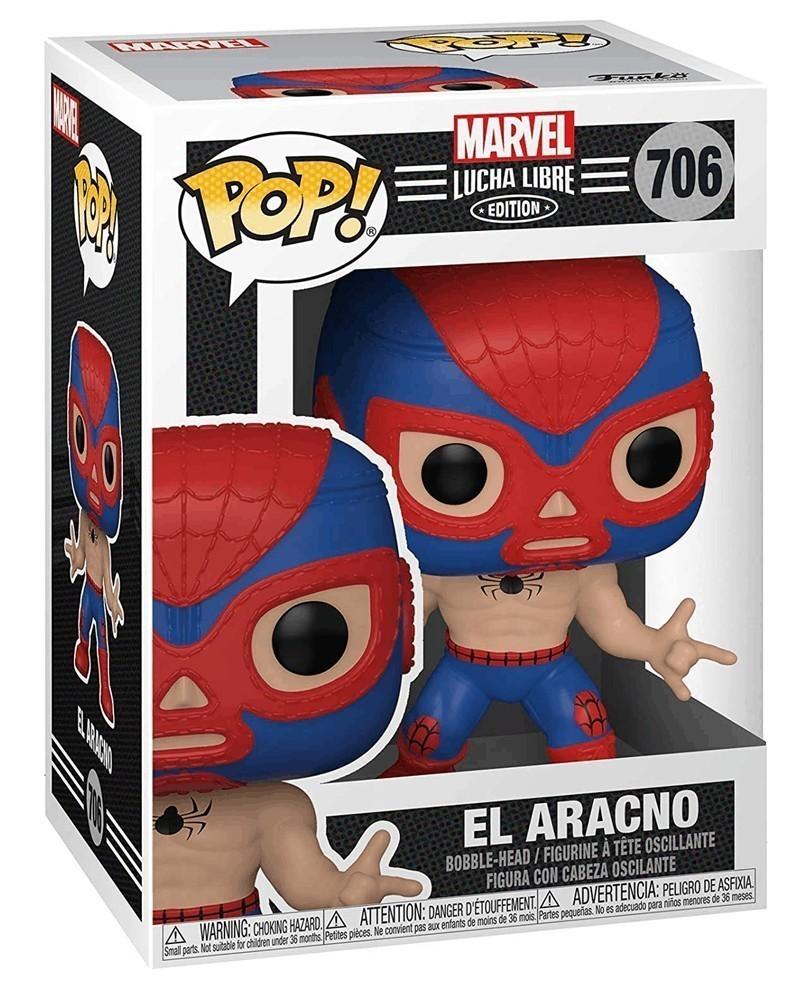 Funko POP Marvel - Lucha Libre - Spider-Man El Aracno, caixa